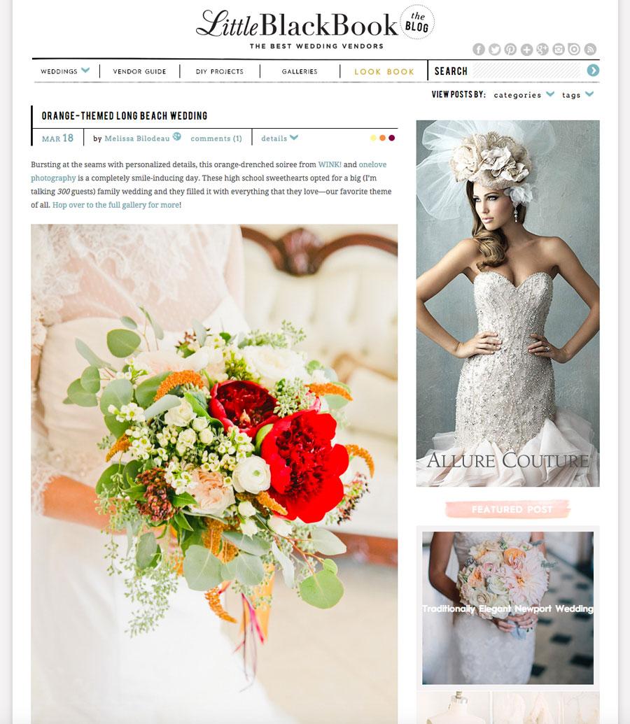Featured: Orange-Themed Wedding | Wink Wed